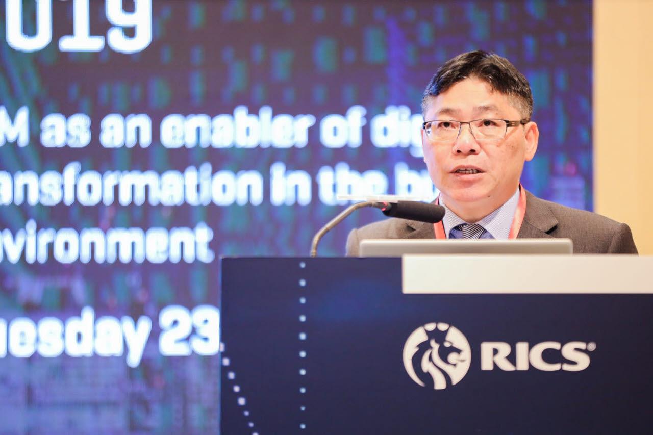 Ir Lam Sai-hung at the BIM Hong Kong Conference 2019