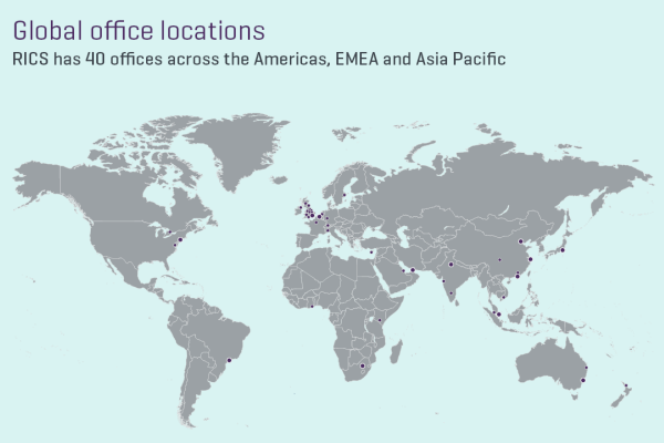 RICS Global Offices Map