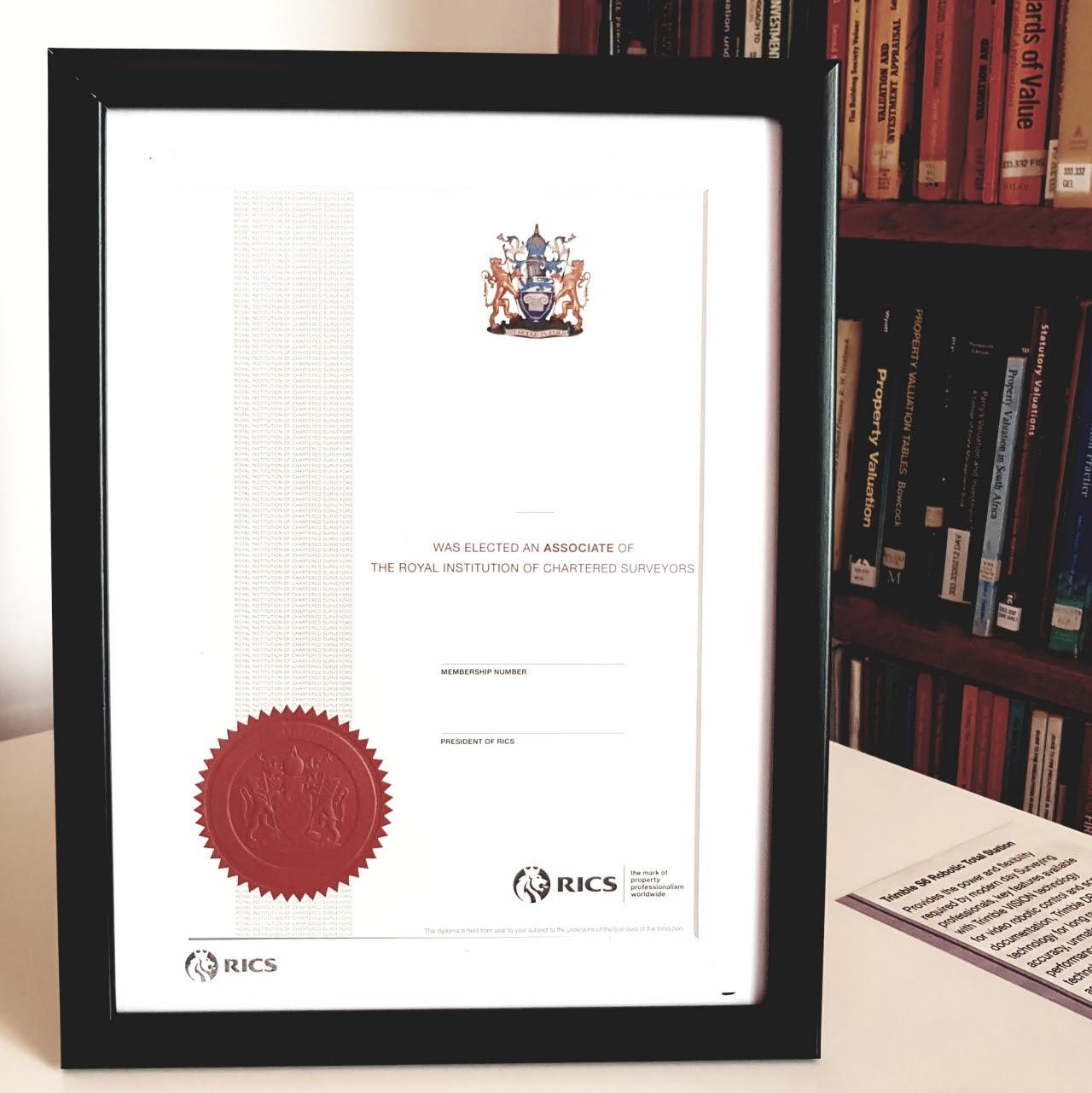 RICS Diploma Frame