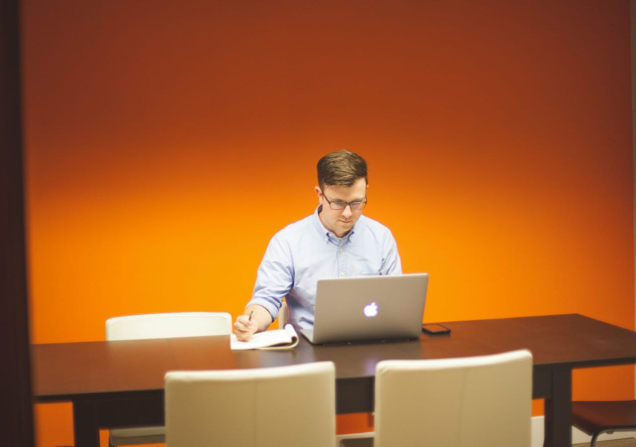 Businessman at a desk