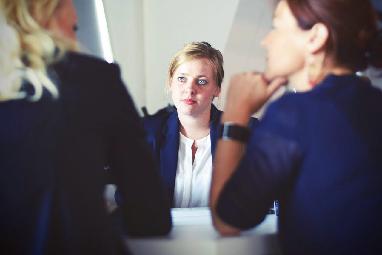 office lady image