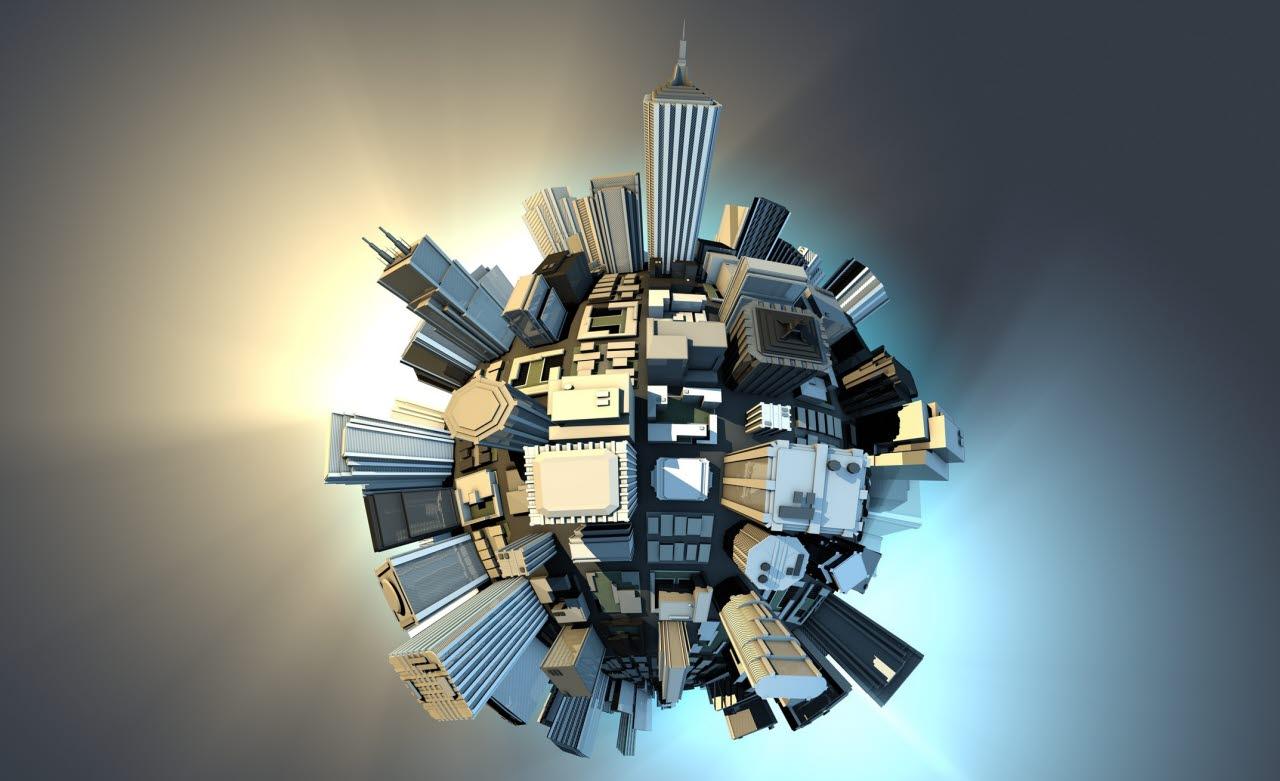 Construction, globe
