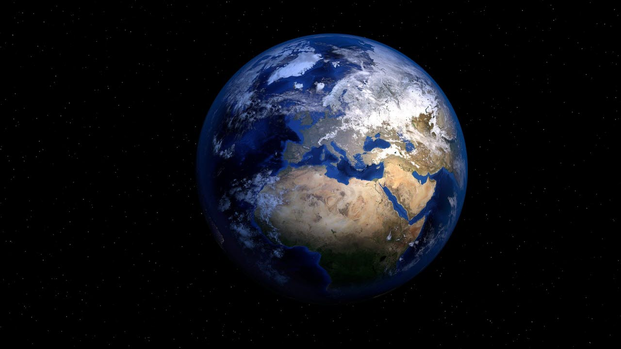 Satellite image of earth from space