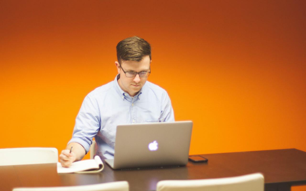 Businessman at a desk