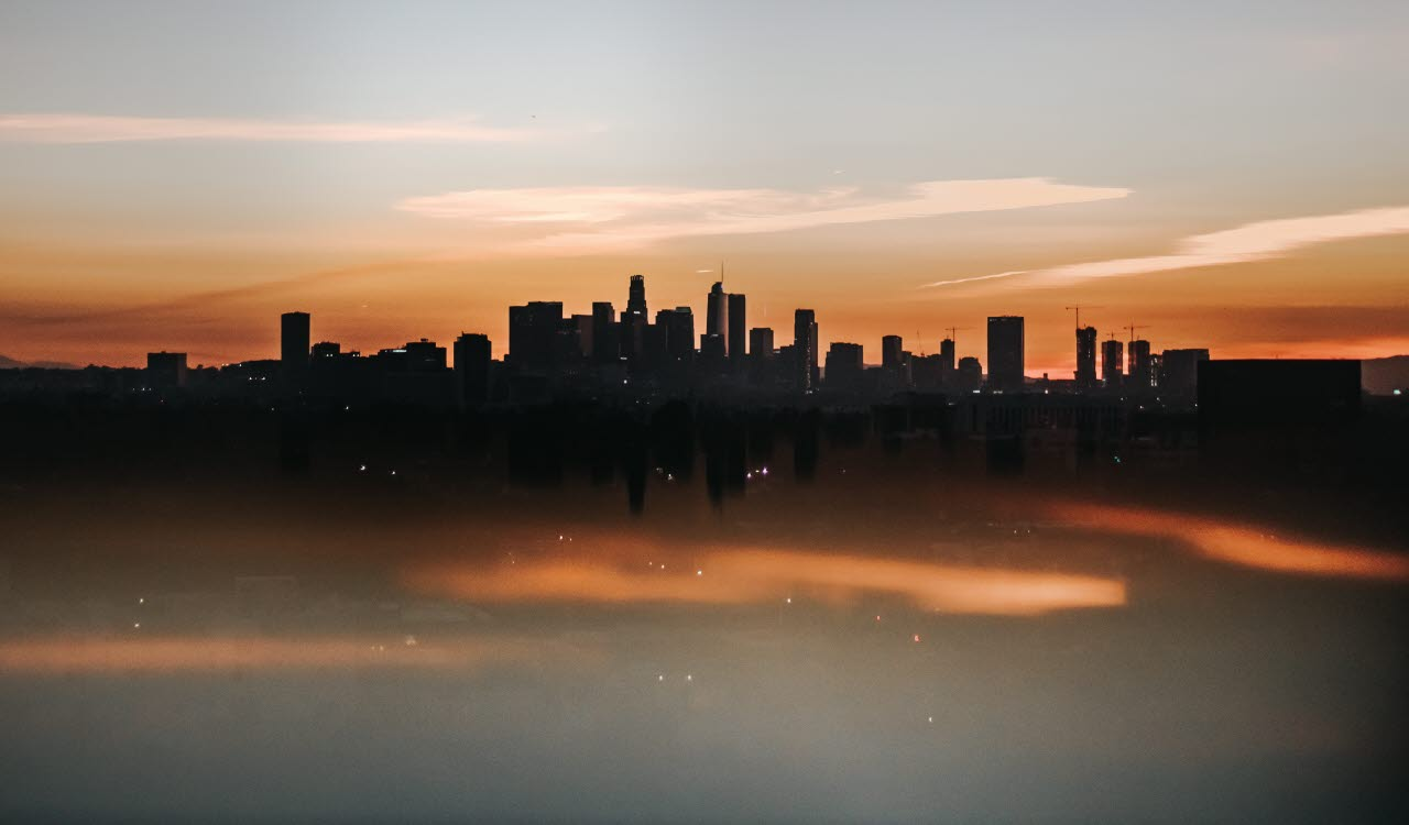 Los Angeles skyline with pollution