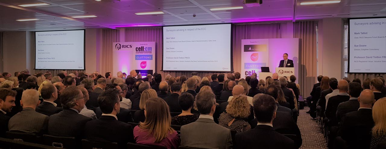 Picture of telecoms forum conference RICS 2019