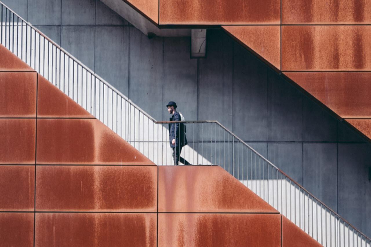 Amsterdam stairway