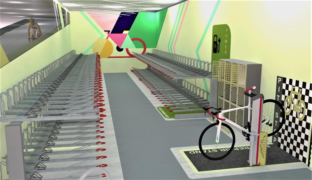 Cycle storage mock-up
