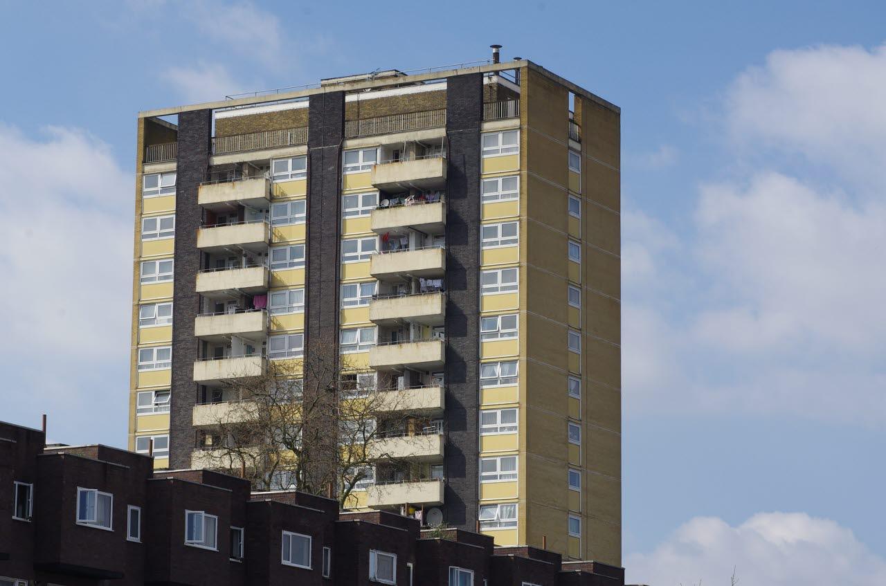 High rise flat in London