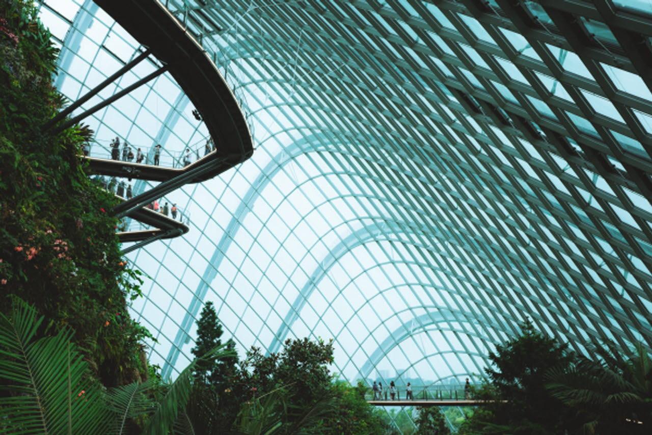 Futuristic garden building