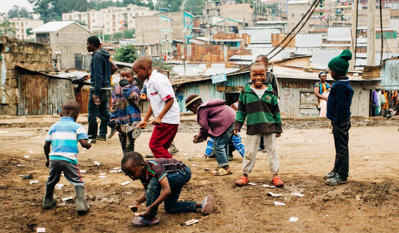 Children playing in Nairobi, Kenya