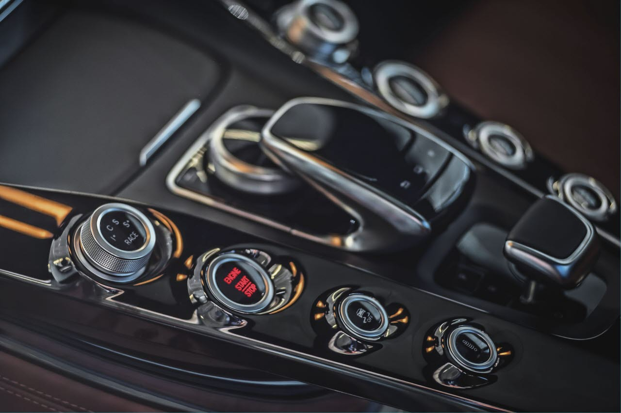 Picture of modern car gears
