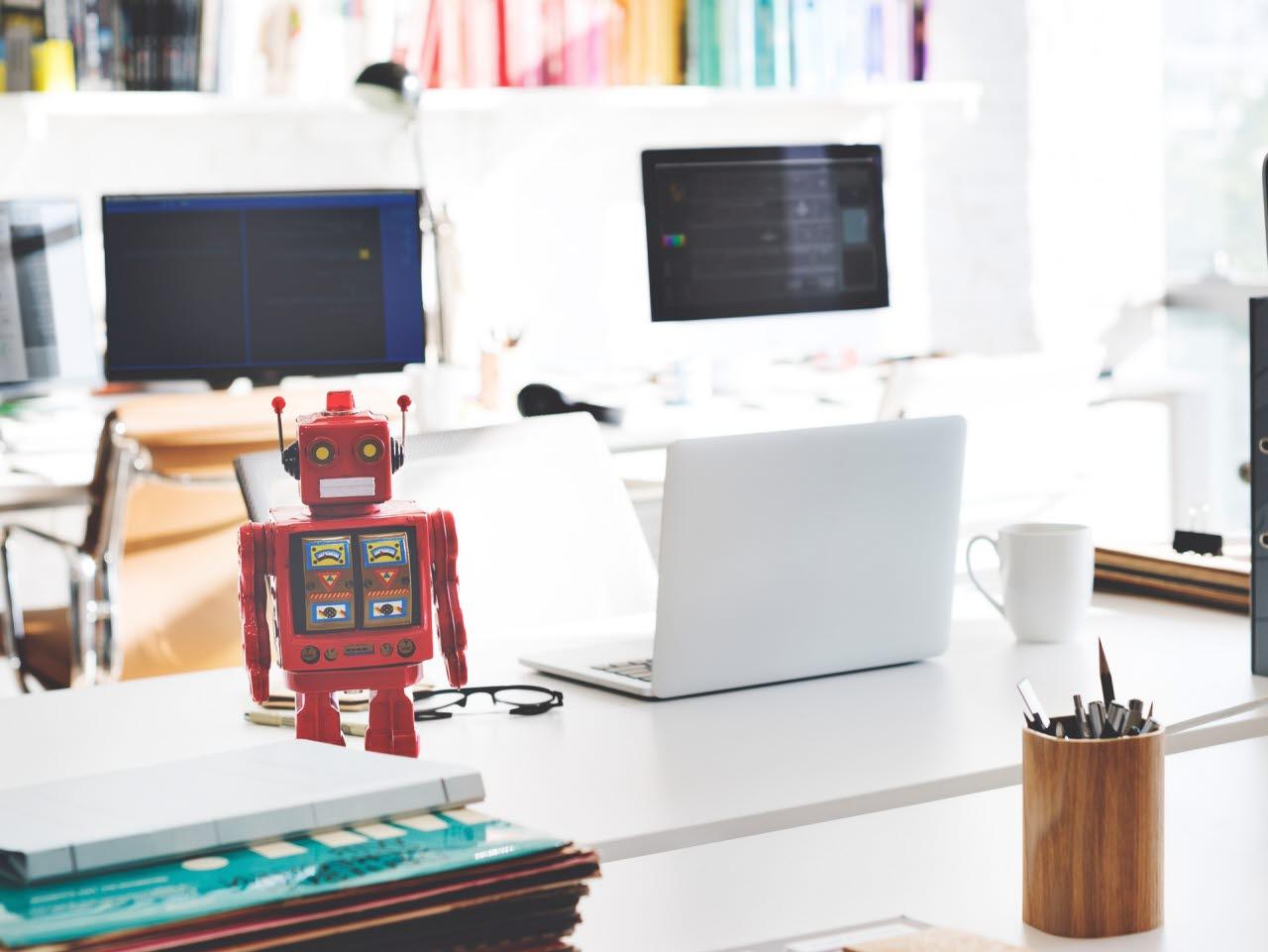 Robot in an office