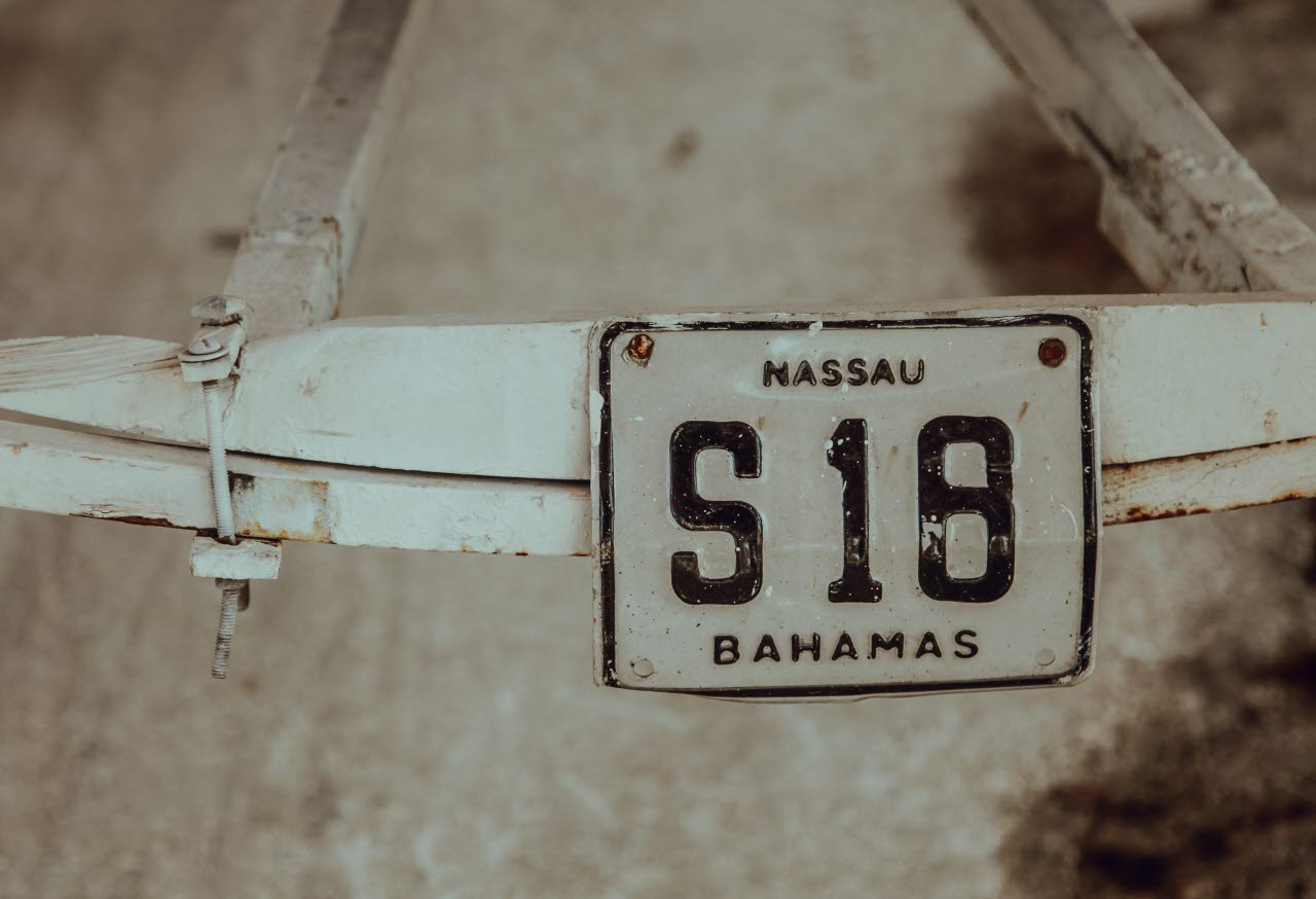 Bahamas number plate