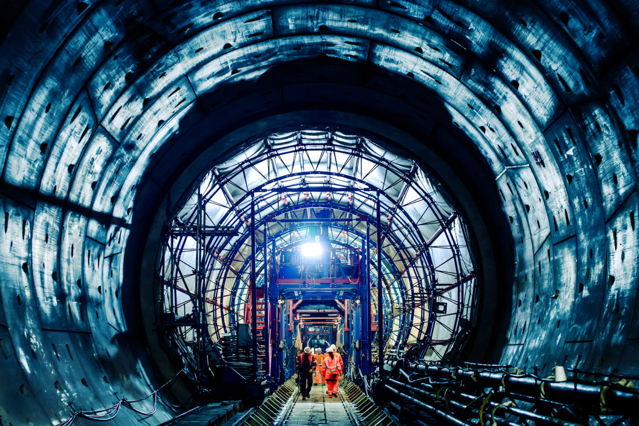 tunnel construction, infrastructure, RICS, 220118, SB