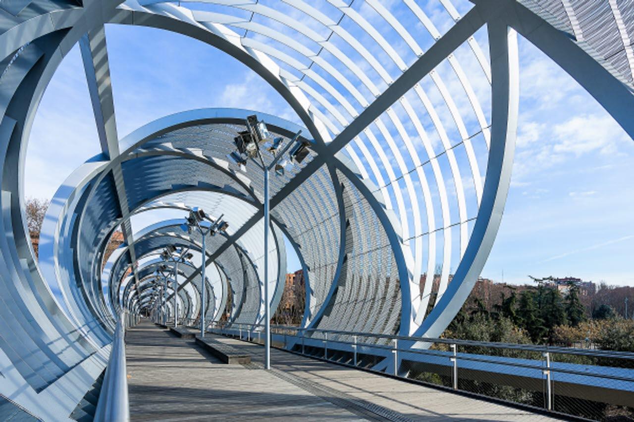 Modern bridge and walkway