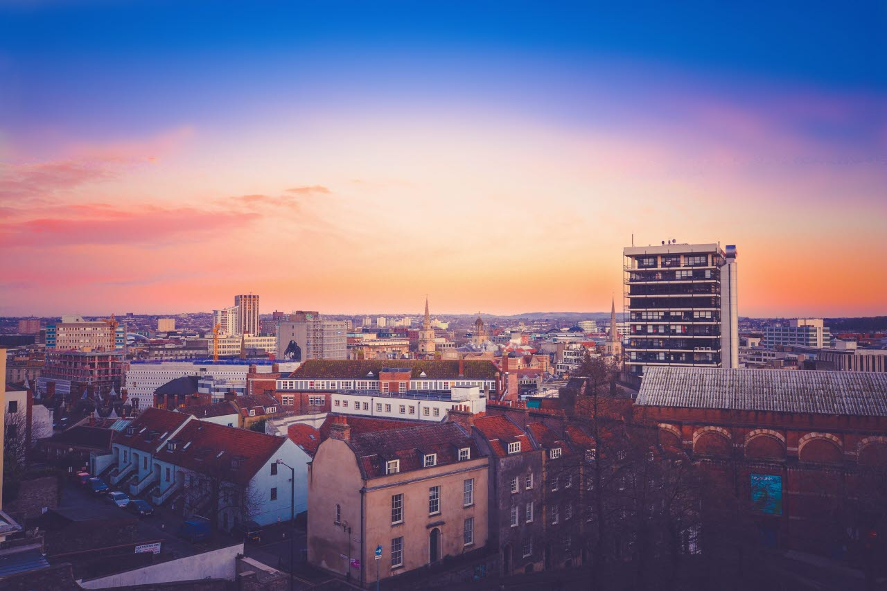 Housing, sunset, 031018, mb