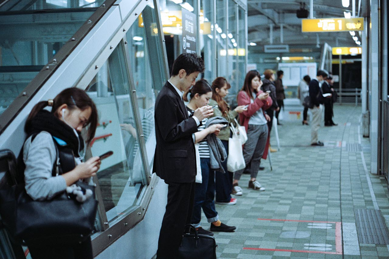 Commuters in Japan