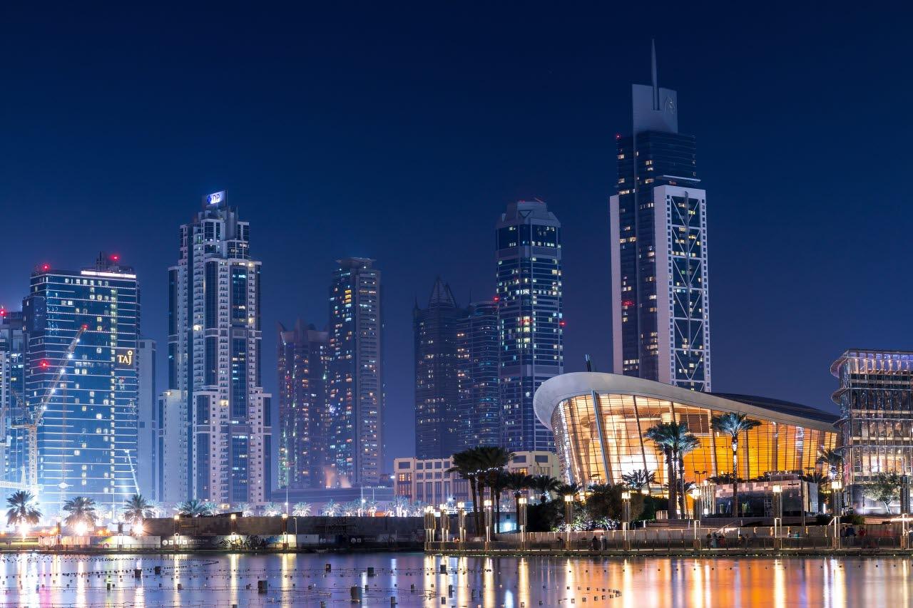 Dubai waterfront buildings