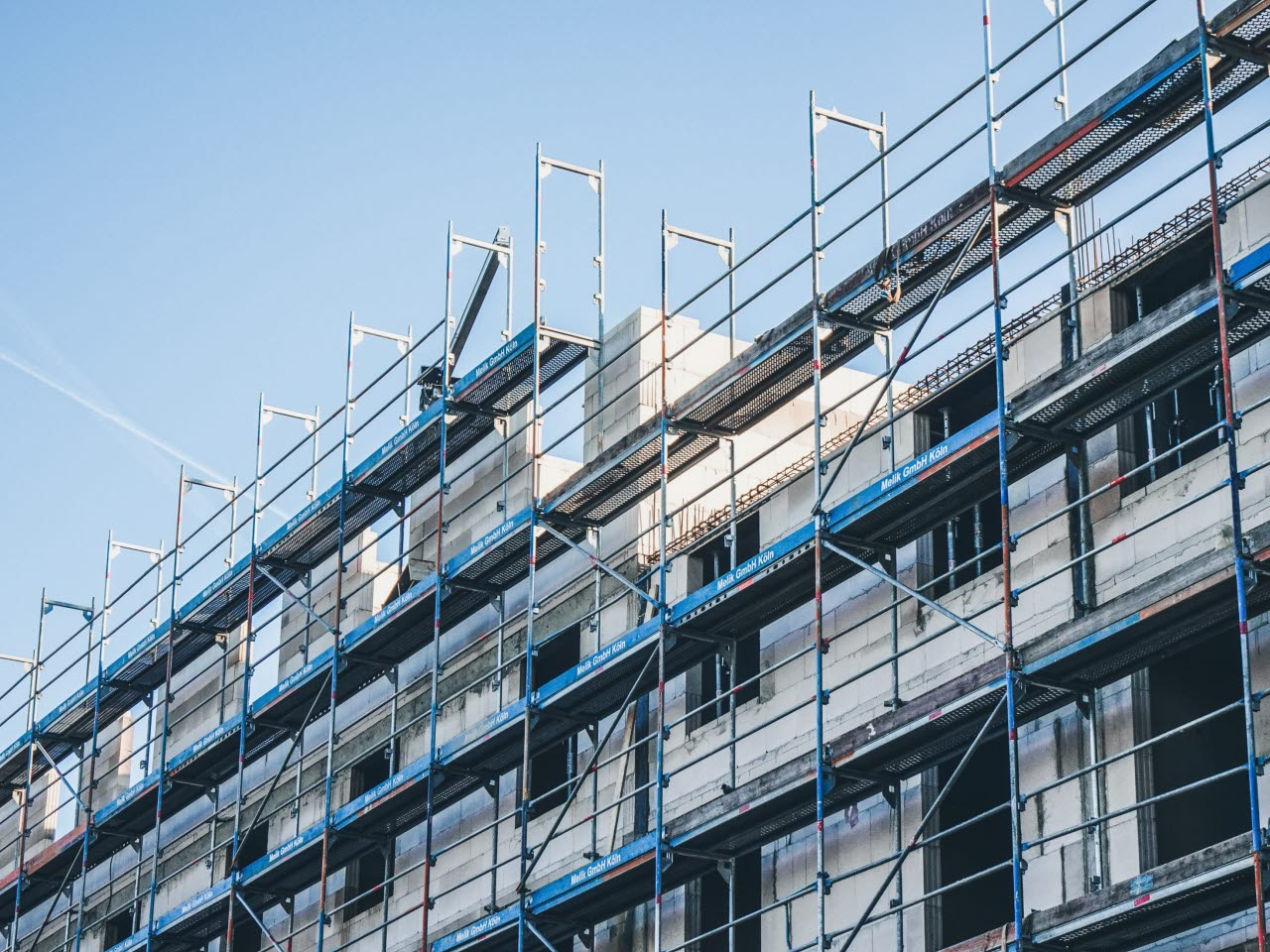 Scaffolding on a large building