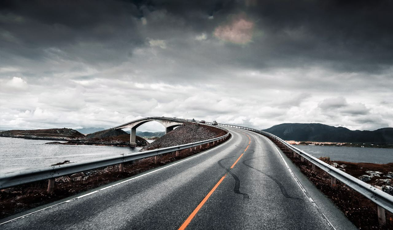 Coast road, Norway