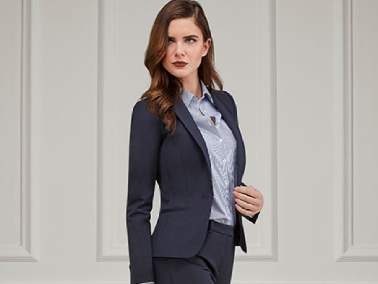 TM Lewin woman in suit