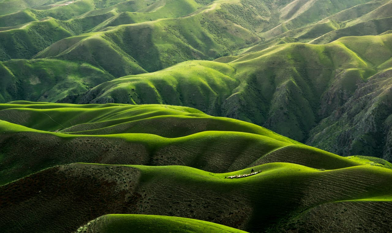Hills countryside