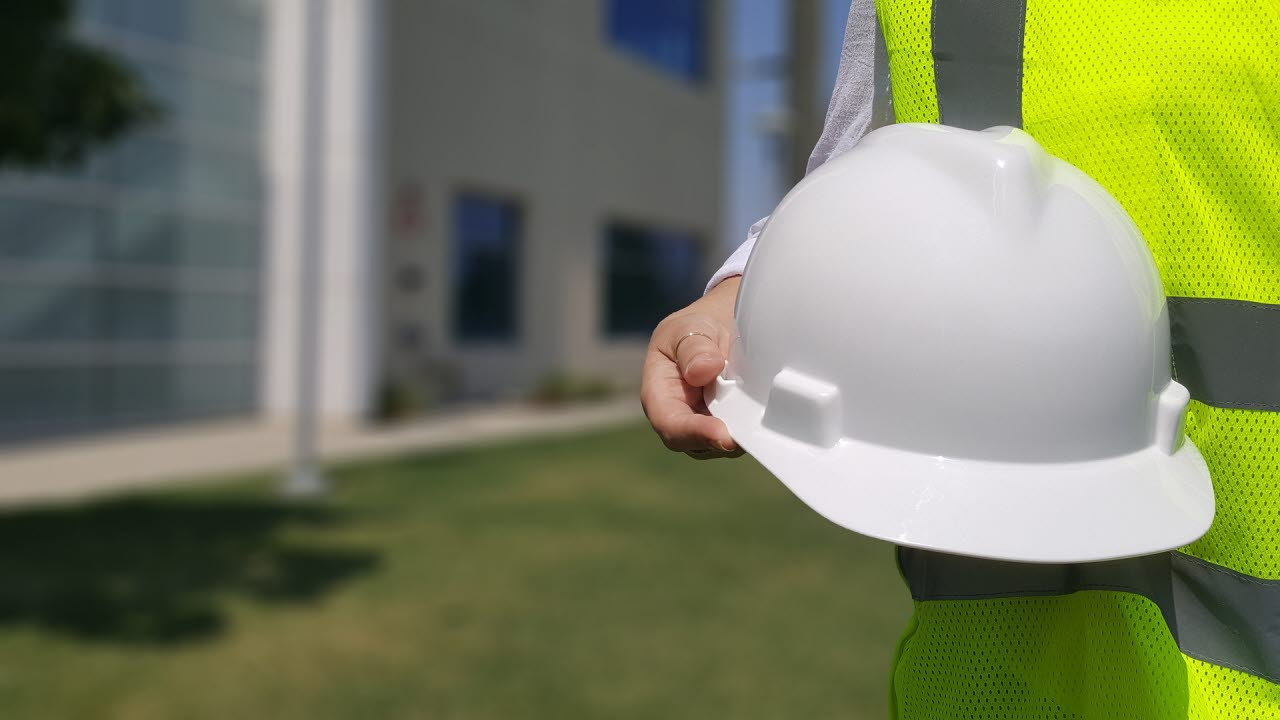 Hard hat with construction