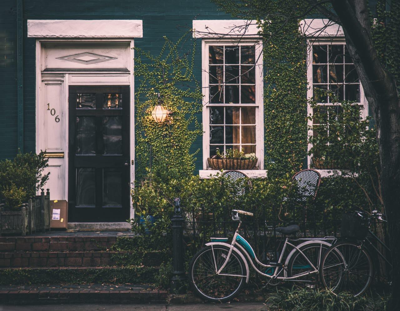 House with bike