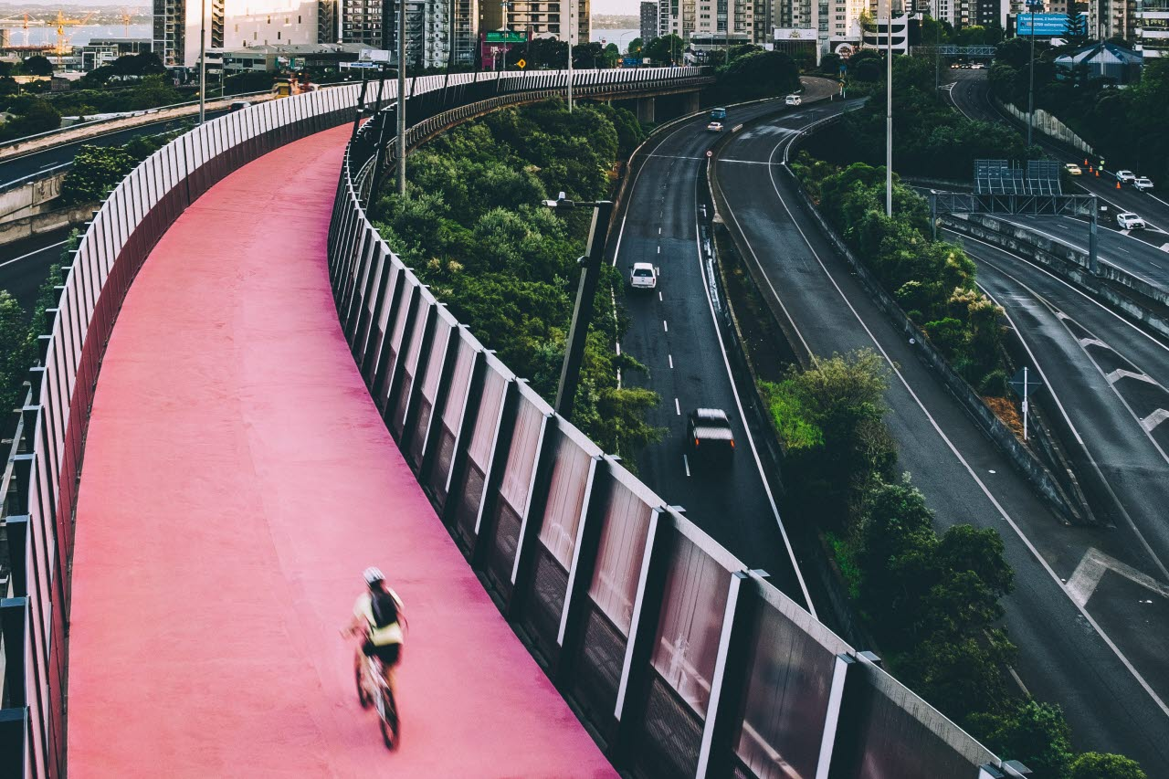 Bike lane, Auckland