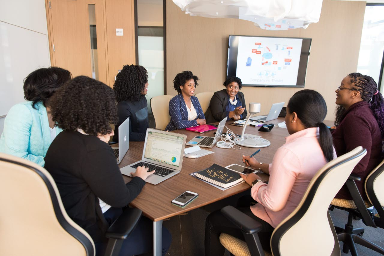 Group of businesswomen in a meeting
