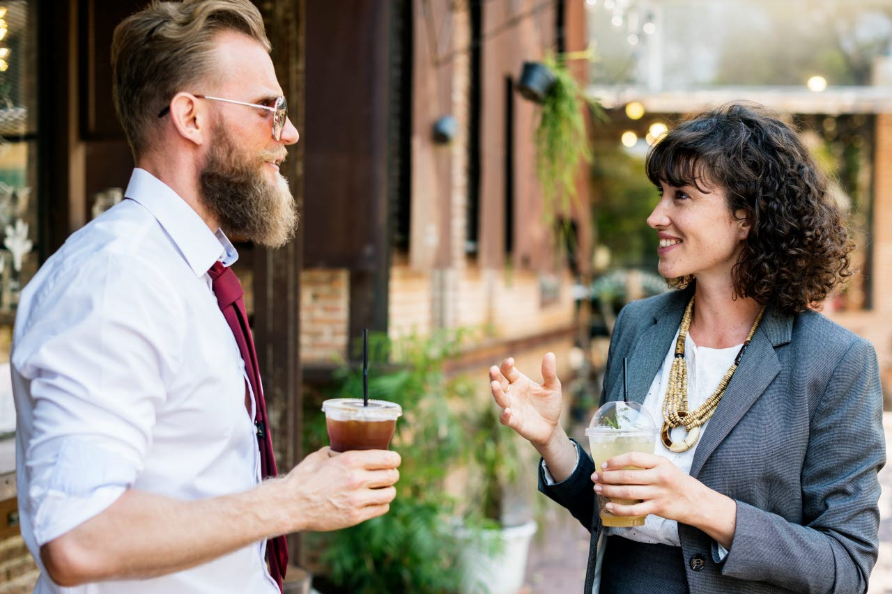 Man, Woman, Meeting