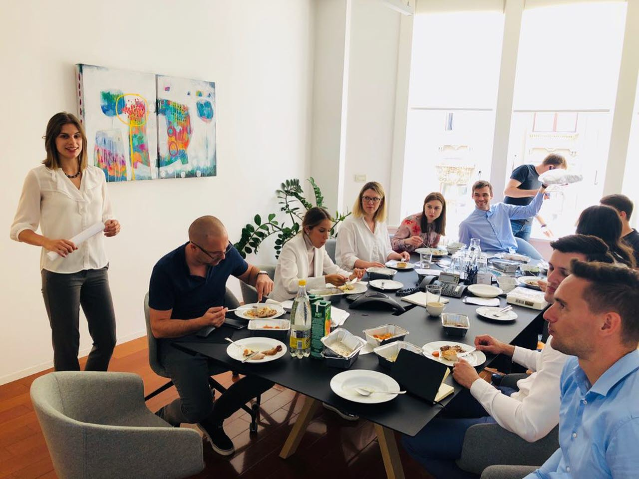 Lunch and learn - Klara and her team