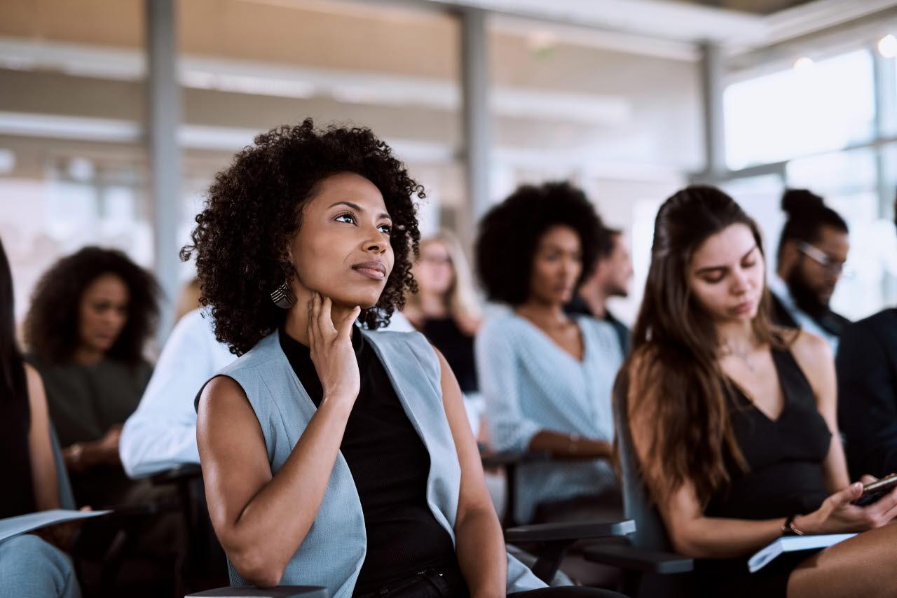 Women listening to seminar