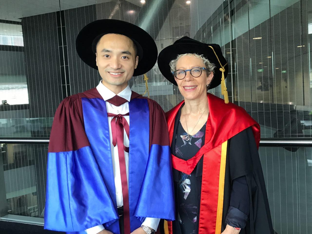 William Cheung MRICS with Professor Deborah Levy FRICS