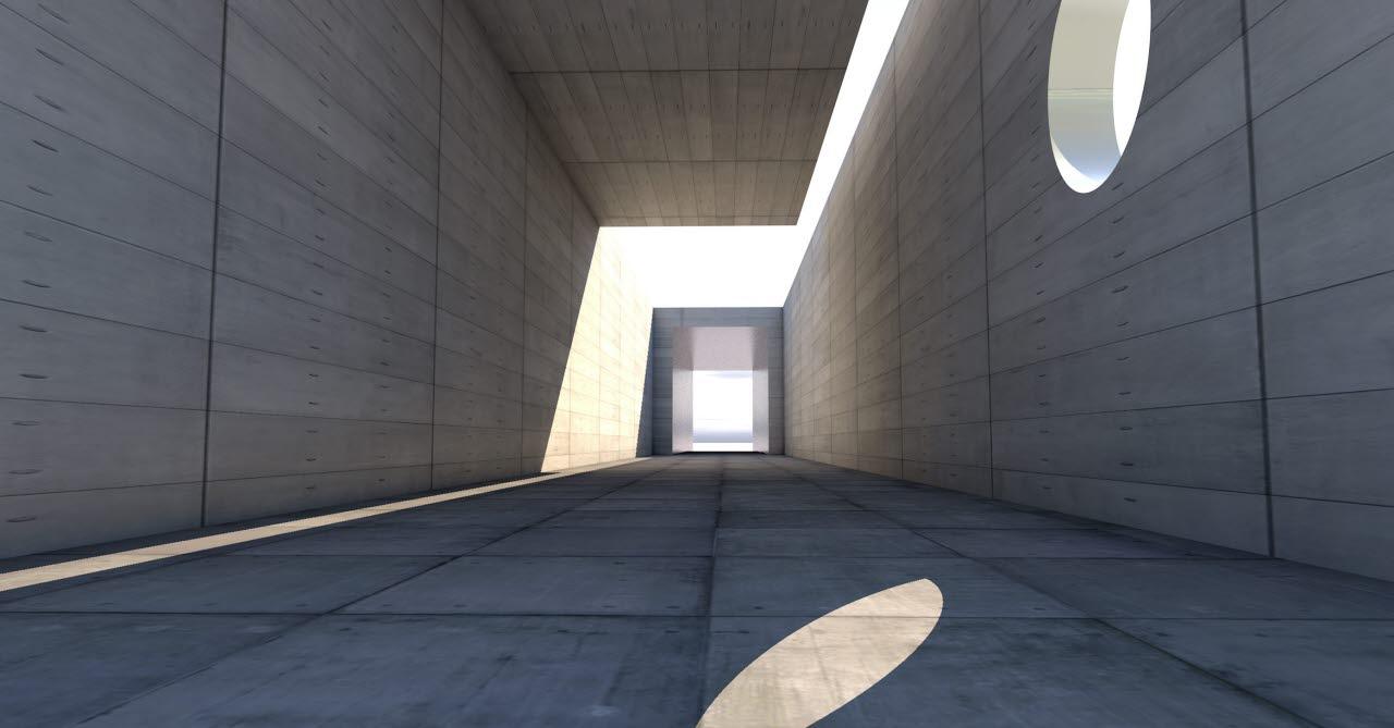 Modernist concrete building