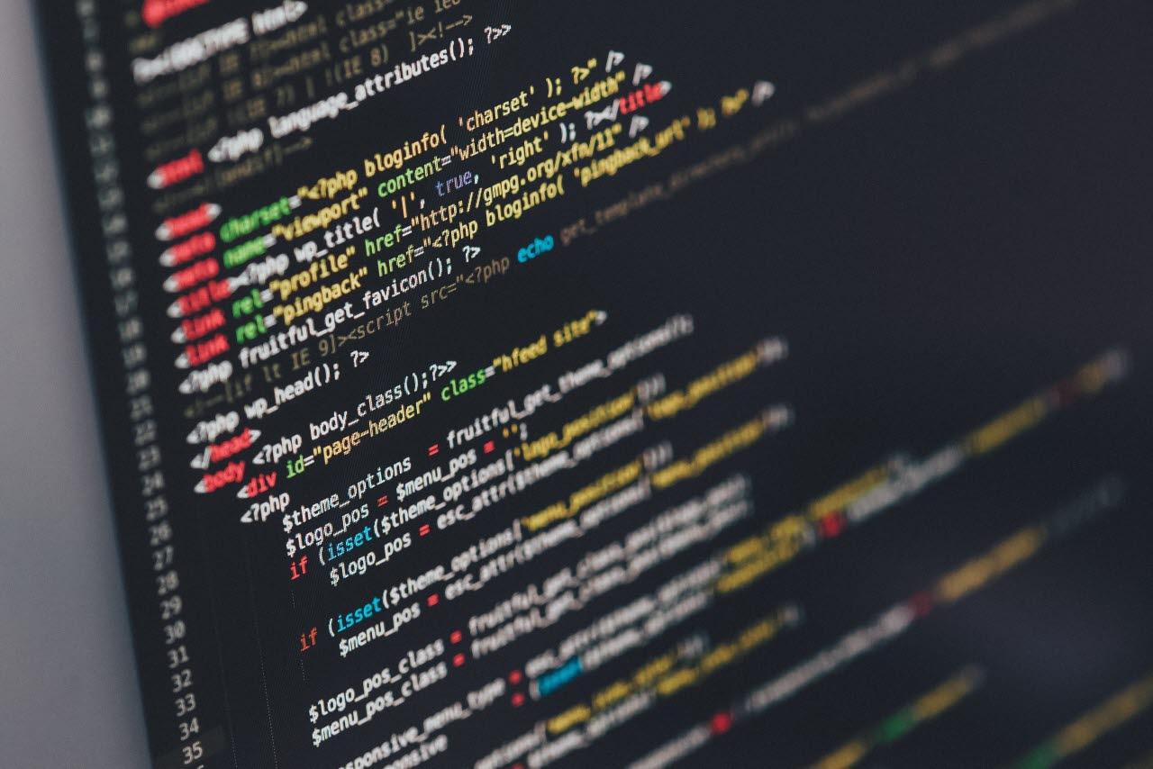 Screen showing java programming