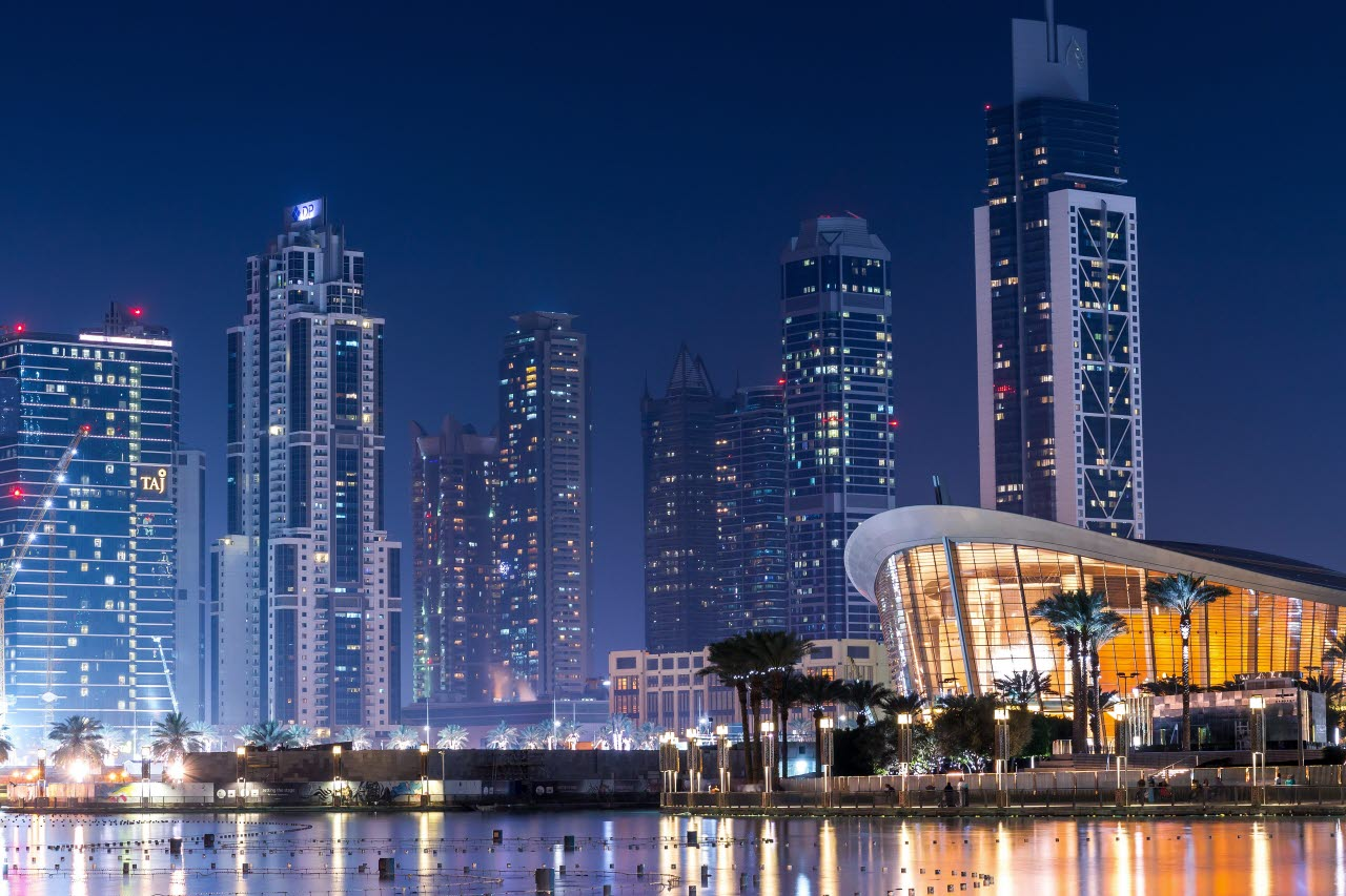 Dubai waterfront buildings