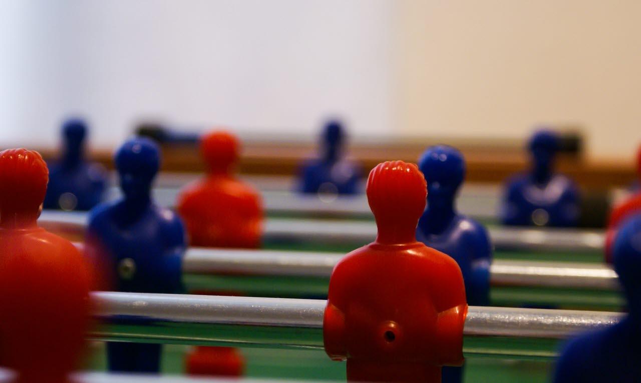 Table football team concept