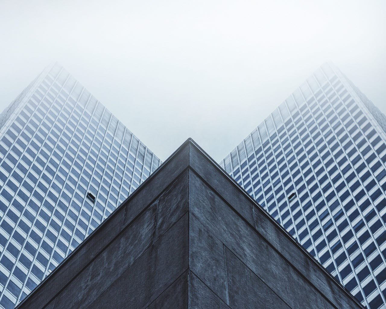Skyscrapers view from below