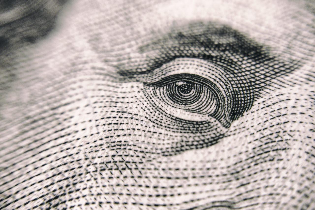Dollar bill close-up