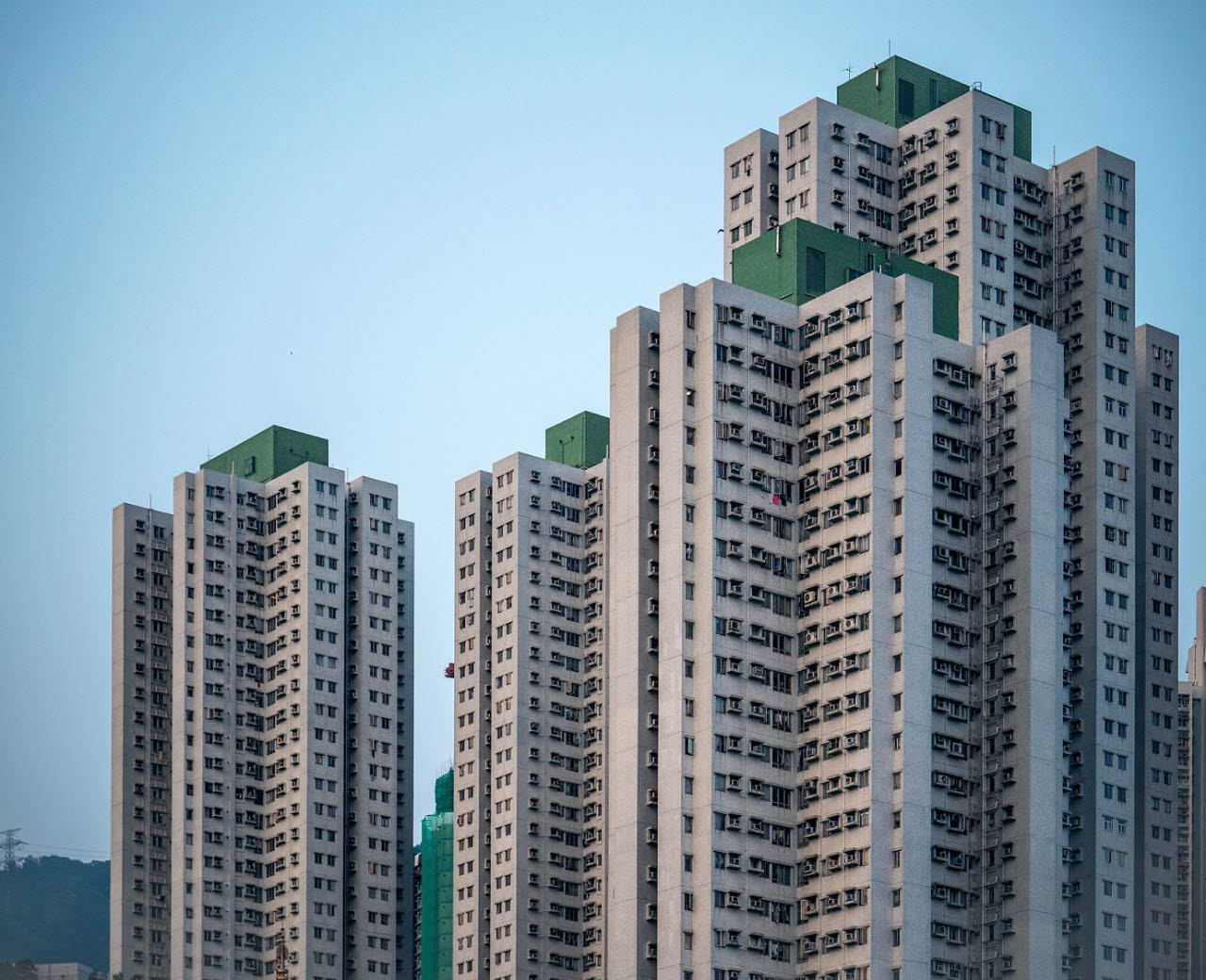 Hong Kong high rise residential buildings