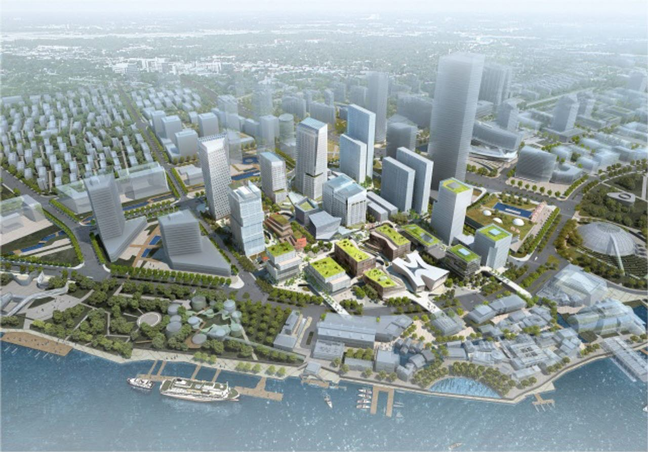 DIgital image of a city