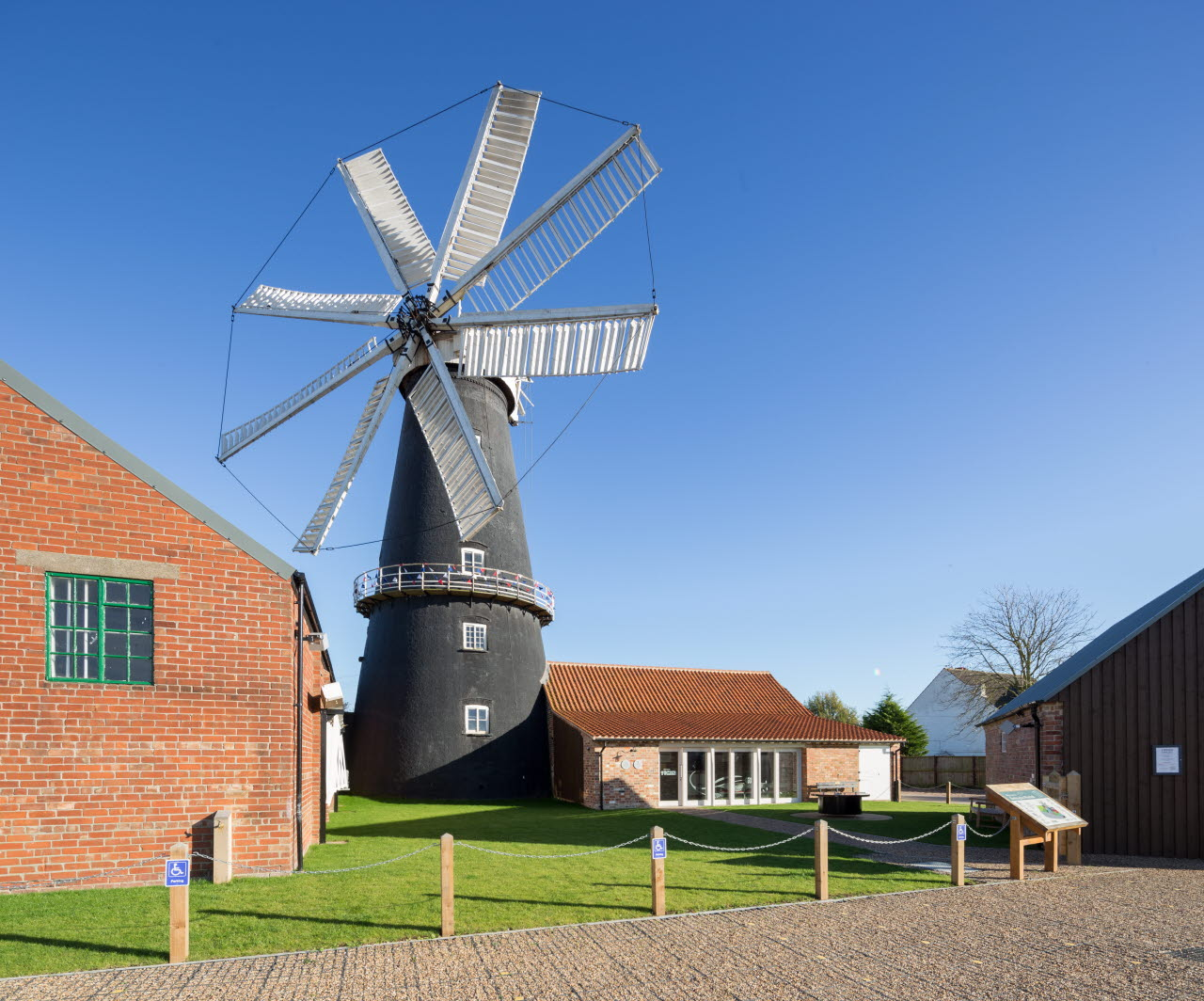 EM Heckington Windmill by Cowper Griffith Architects View of front entrance.jpg