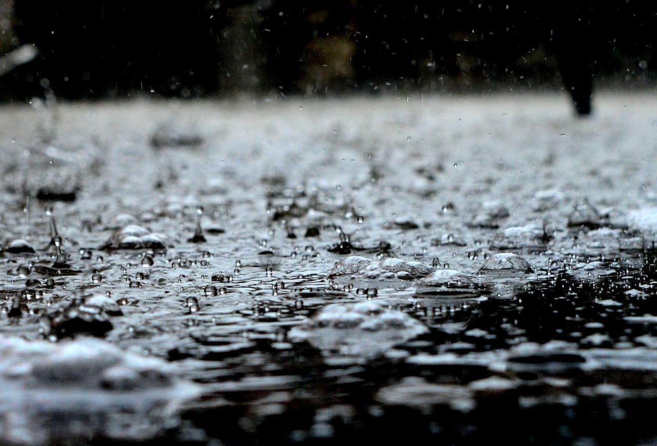 Rainfall on street