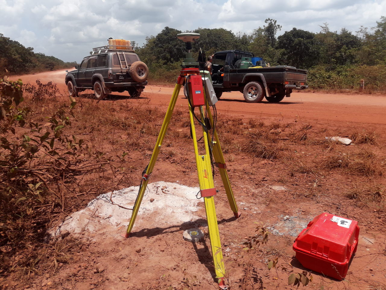 Image of surveying techniques in Guyana