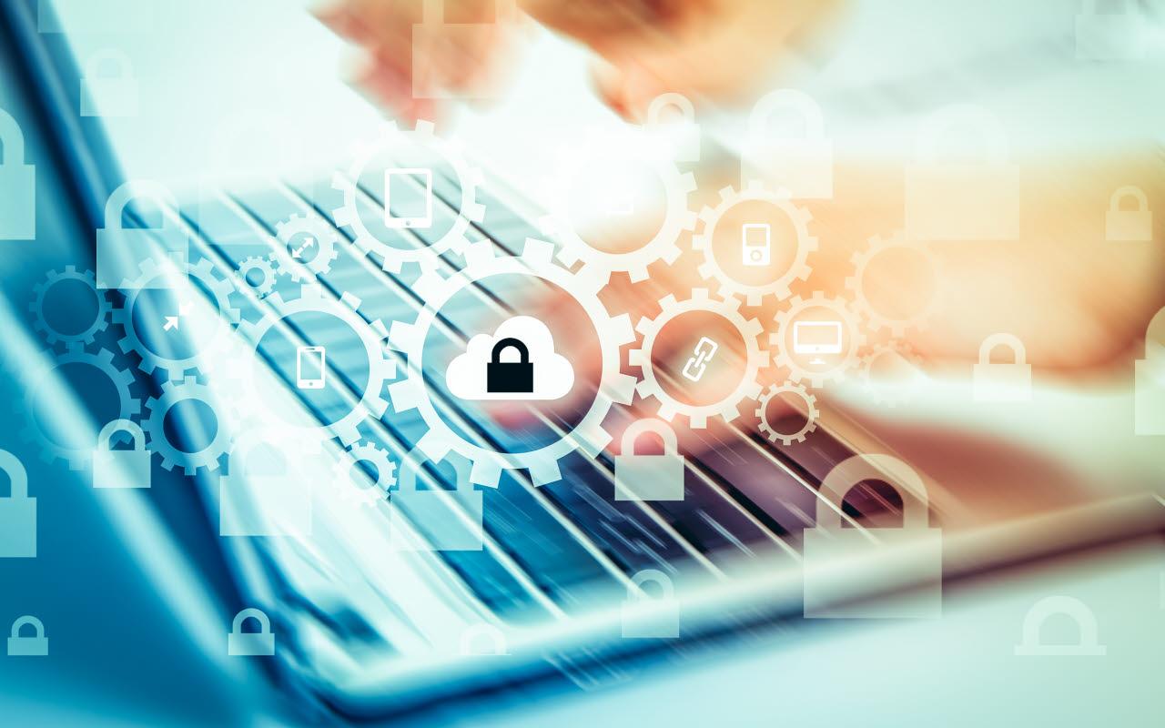 data protection, laptop, typing, RICS, 220118, SB